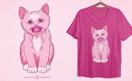 Baby kitten t-shirt design