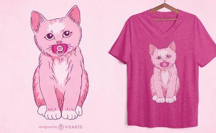 Diseño de camiseta de gatito bebé