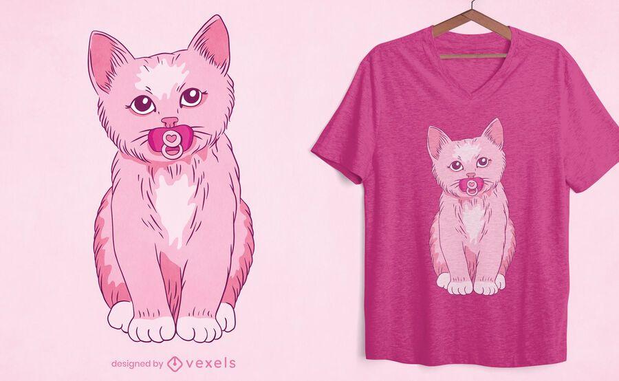Baby kitten t-shirt design