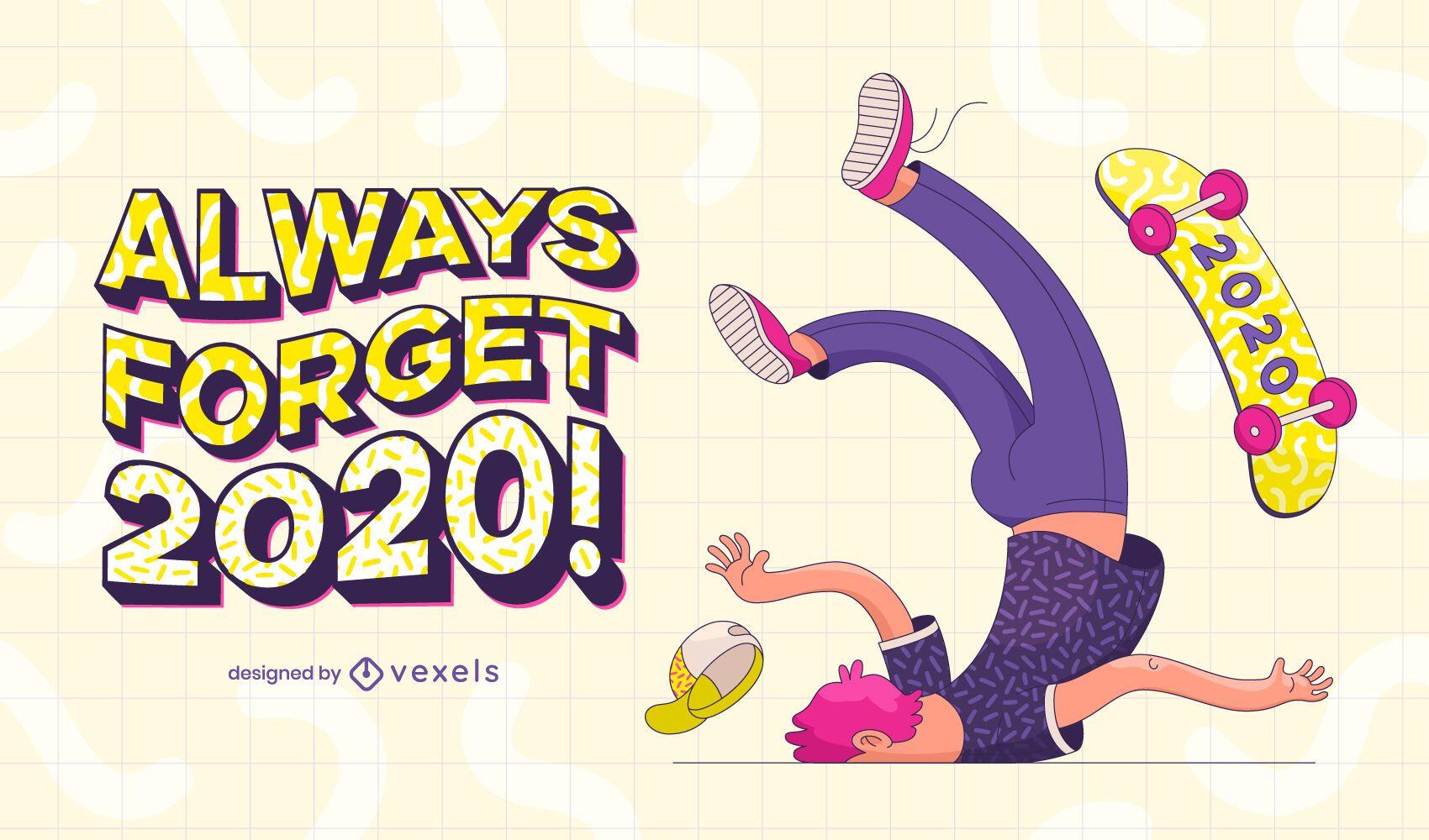 Always forget 2020 illustration design