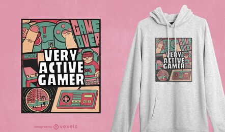 Active gamer t-shirt design