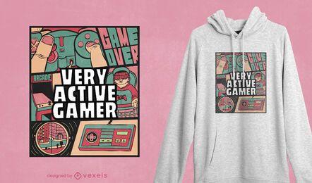 Aktives Gamer-T-Shirt Design