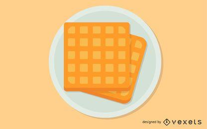 Clip-art de waffle