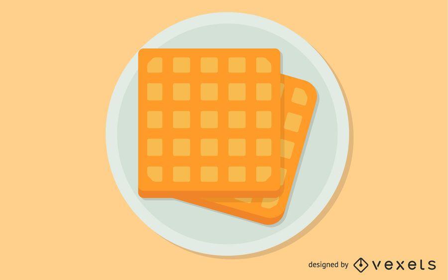 Clipart de waffle