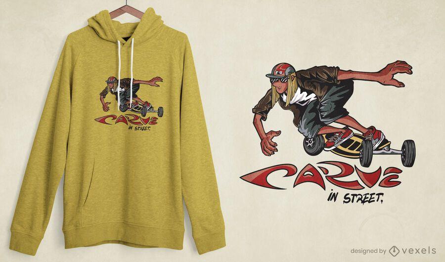Carveboard t-shirt design