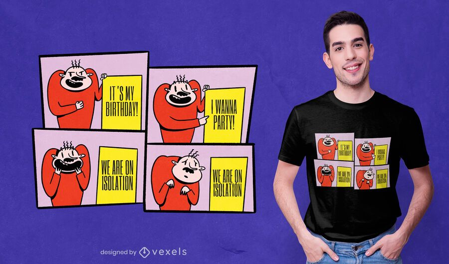 Design de t-shirt meme board