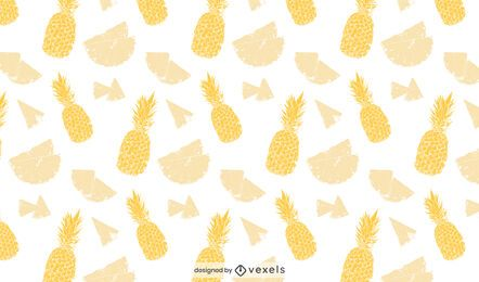 Desenho de padrão de abacaxi amarelo