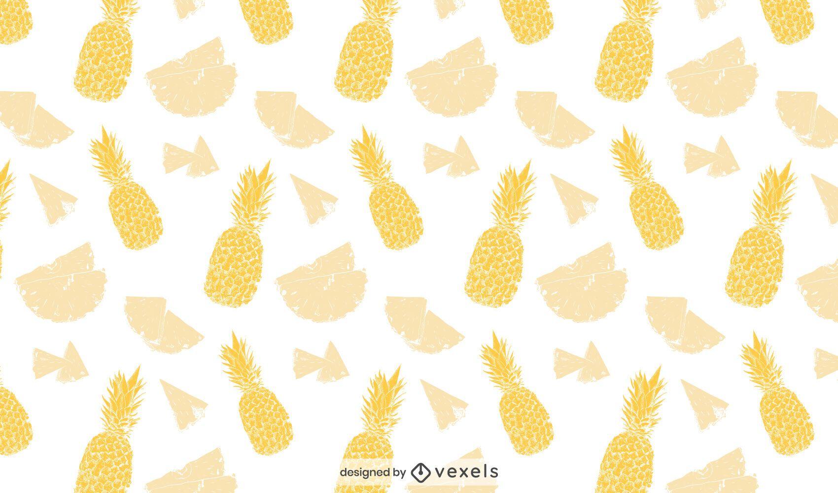 Yellow pineapple pattern design