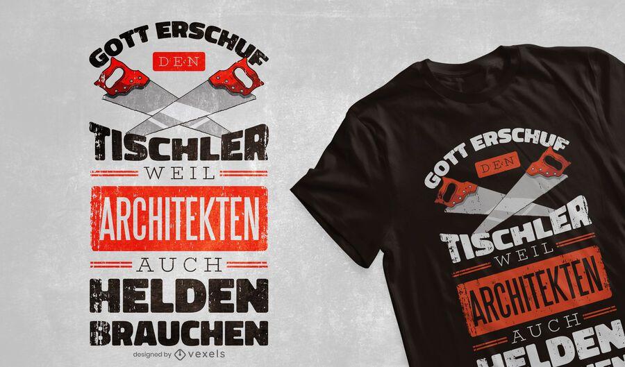 Carpenter heroes t-shirt design
