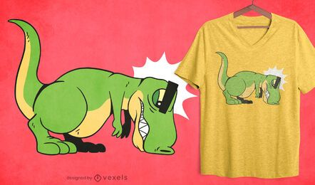 Design de t-shirt flexões T-rex
