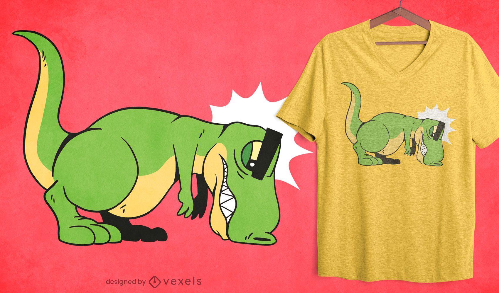 T-rex push ups t-shirt design