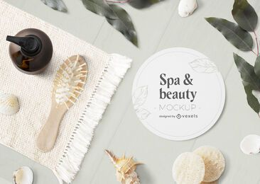 Spa & beauty psd mockup composition