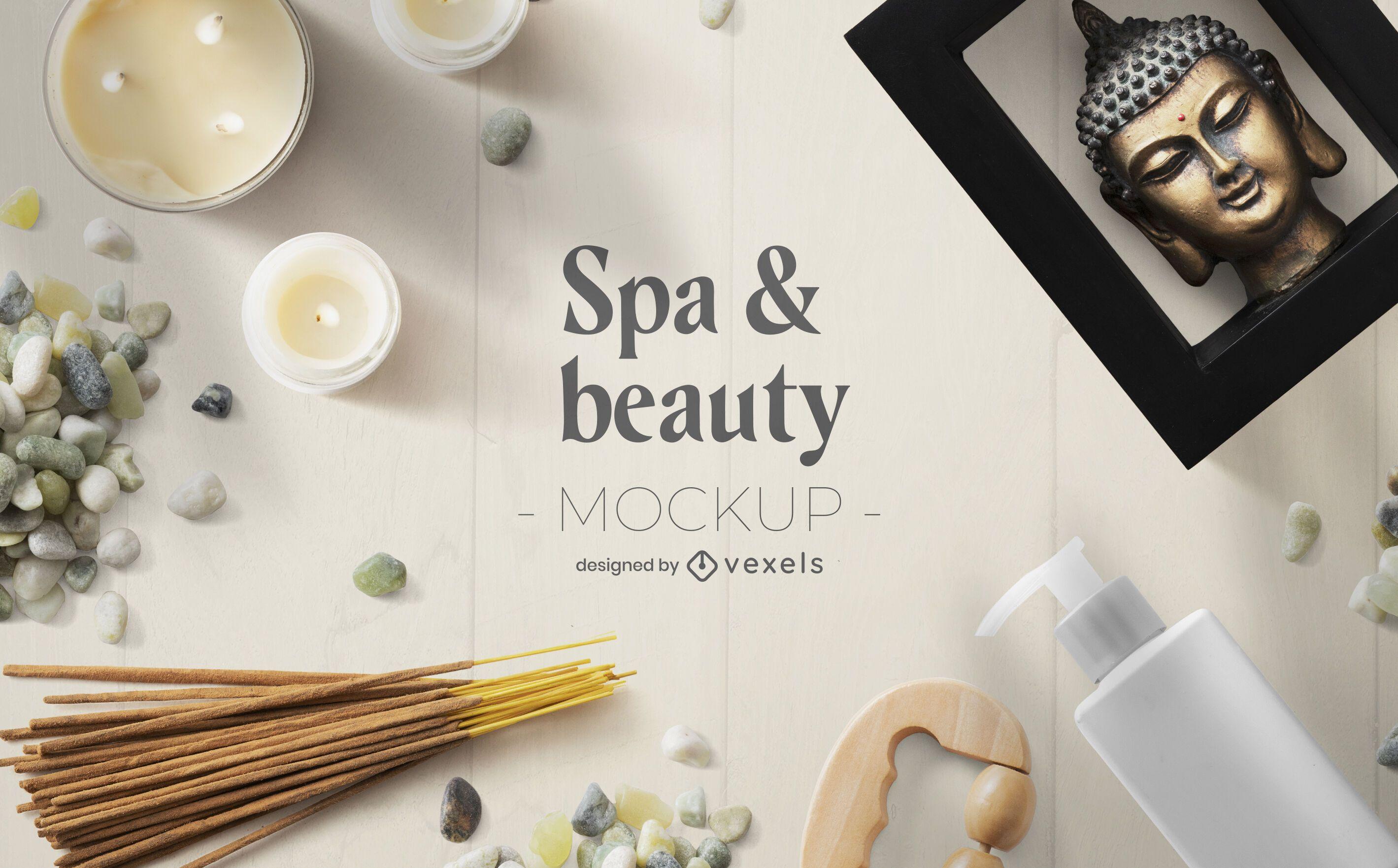 Beauty spa mockup composition