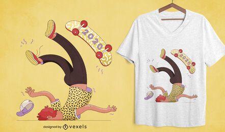 Diseño de camiseta anti 2020