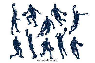 Cenografia de jogador de basquete