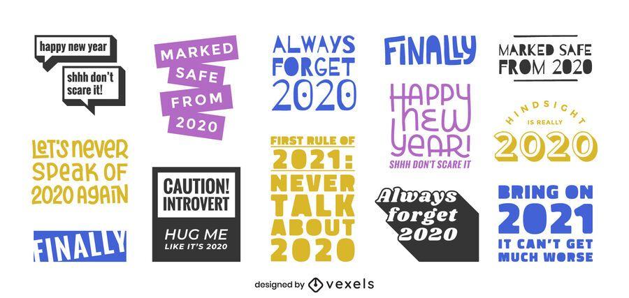 Conjunto de letras anti 2020