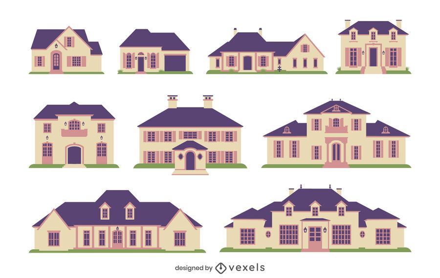 Country houses flat collection