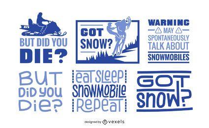 Schneemobil-Schriftzug