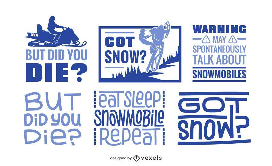 Snowmobile lettering set