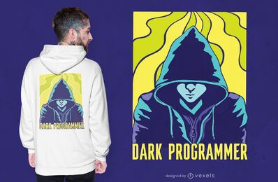 Dunkles Programmierer-T-Shirt Design