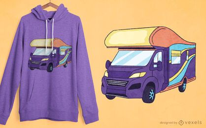 Design de t-shirt retro motorhome