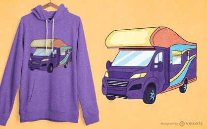 Retro-T-Shirt-Design des Wohnmobils