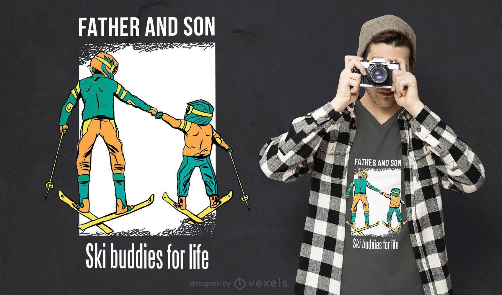 Ski buddies t-shirt design
