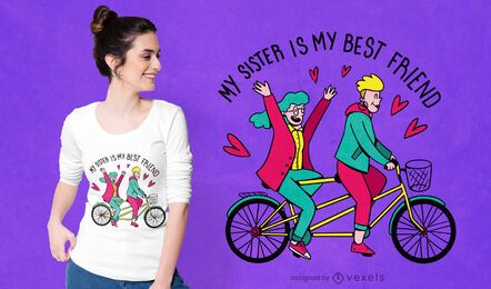 Sister best friend t-shirt design