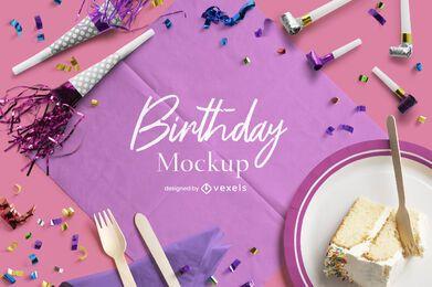Mockup-Komposition für Geburtstagsfeier