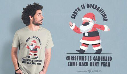 Design de camiseta de natal cancelada