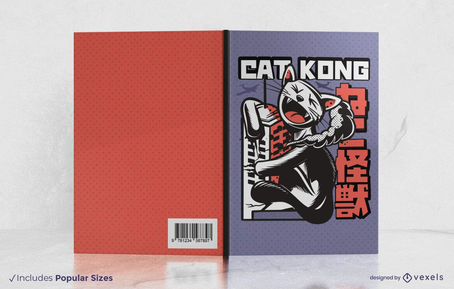 Cat kong book cover design
