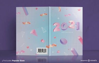 3d 2021 book cover design