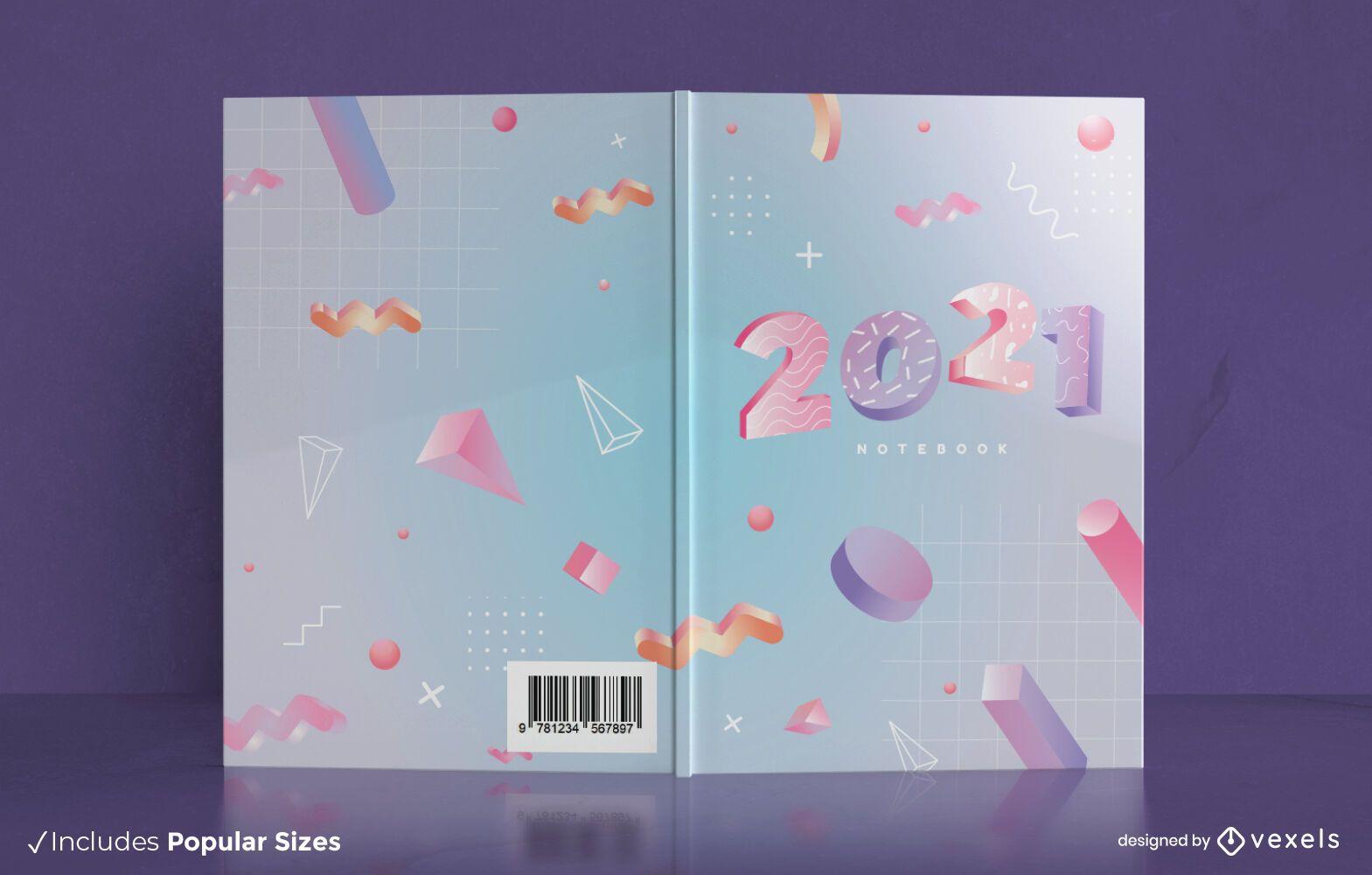 Diseño de portada de libro 3d 2021