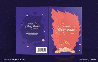 Diseño de portada de libro de cuentos para niños.
