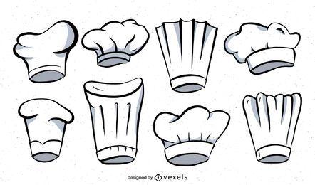 Kochmütze Illustrationssatz