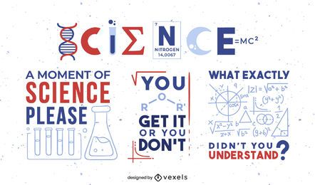 Conjunto de emblemas de citações científicas