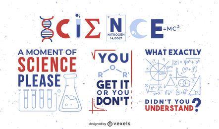 Wissenschaft Zitat Abzeichen gesetzt