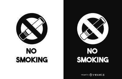 Imágenes prediseñadas de no fumar signo