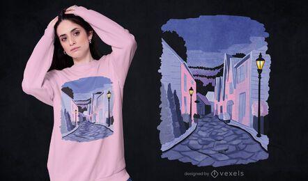 Diseño de camiseta de la calle Stavanger
