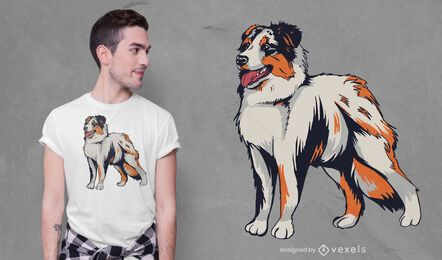 Australian shepherd t-shirt design
