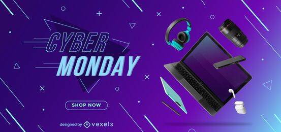 Cyber monday discount slider design
