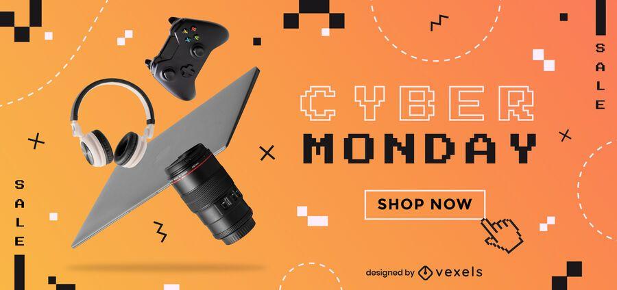 Cyber monday promotion slider design