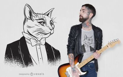 Diseño de camiseta sir cat