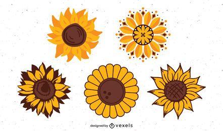 Sonnenblumenabbildung eingestellt