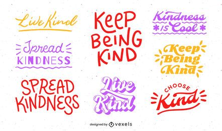 Be kind lettering set