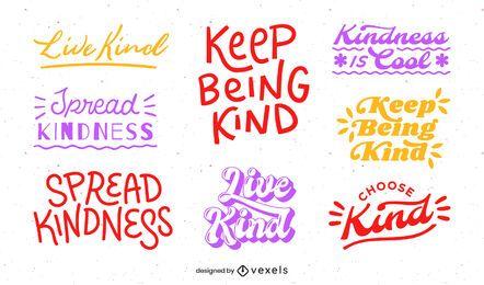 Seja gentil conjunto de letras