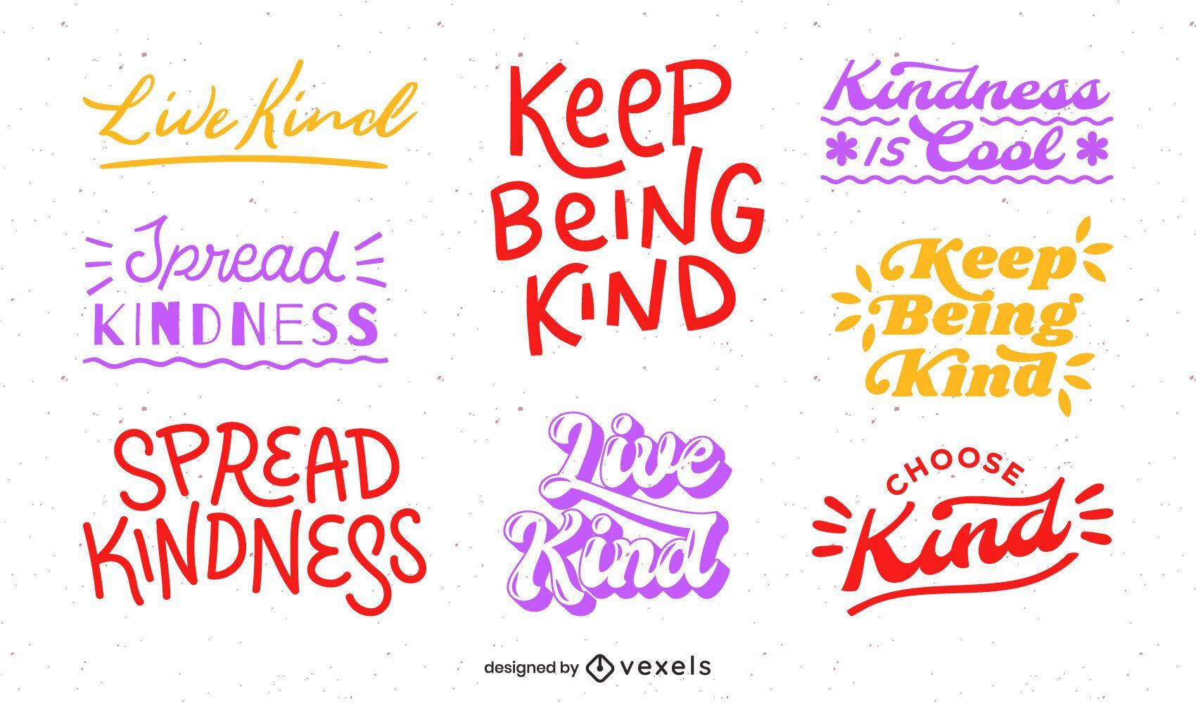 Be kind lettering set