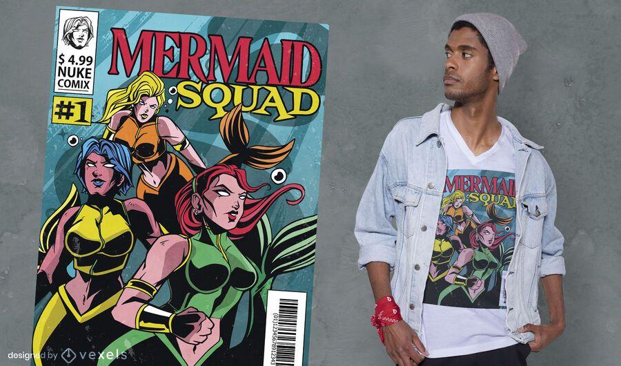 Diseño de camiseta Mermaid Squad