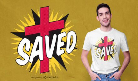 Diseño de camiseta comic cross