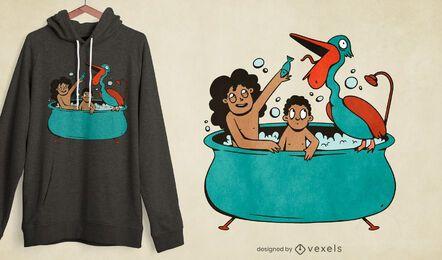 Design de t-shirt Pelican mouth